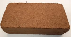Kokosfiber Coir block 650 g - tvättad köp hos Plantanica