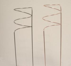 Amaryllisstöd i kopparfärgad metall köp hos Plantanica