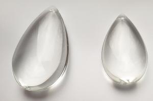 Glasdroppe 63 mm ofärgad -klar köp hos Plantanica