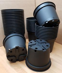 Kruka rund 2 liter svart plast - 10 st köp hos Plantanica