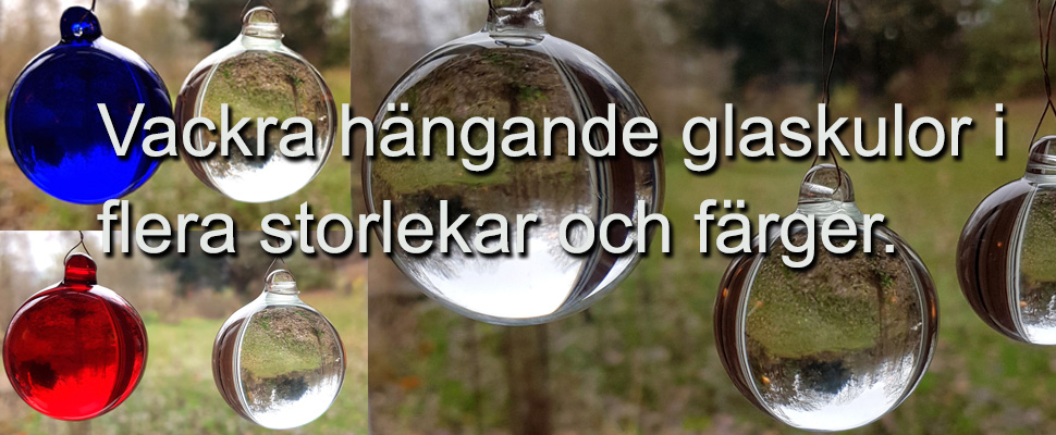 glasdekoration hängande massiva glaskulor plantanica